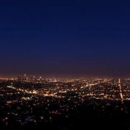 Night time cityscape.